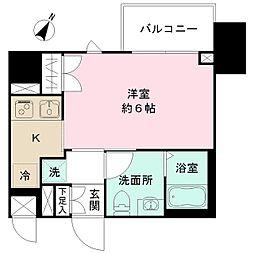 N-stage Toyoda 5階ワンルームの間取り