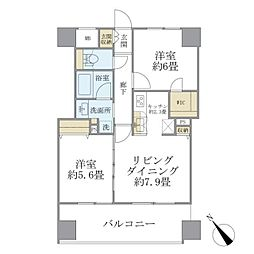 西武池袋線 東長崎駅 徒歩1分の賃貸マンション 11階2LDKの間取り
