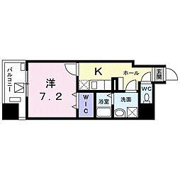 東京メトロ東西線 葛西駅 徒歩18分の賃貸マンション 6階1Kの間取り