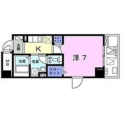 小田急小田原線 向ヶ丘遊園駅 徒歩13分の賃貸マンション 2階1Kの間取り