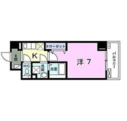 小田急小田原線 向ヶ丘遊園駅 徒歩13分の賃貸マンション 3階1Kの間取り