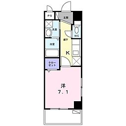 沖縄都市モノレール 古島駅 バス43分 諸見下車 徒歩4分の賃貸マンション 5階1Kの間取り