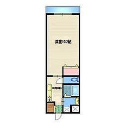 東武野田線 岩槻駅 徒歩5分の賃貸マンション 1階1Kの間取り