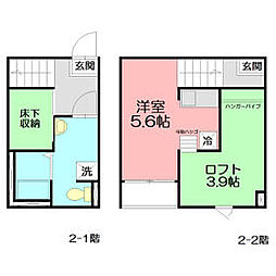 JR東海道本線 藤沢駅 バス7分 神明町下車 徒歩4分の賃貸アパート 2階ワンルームの間取り