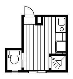 西武新宿線 武蔵関駅 徒歩10分の賃貸アパート 1階ワンルームの間取り