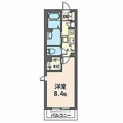 仮)八幡宿駅平成通りマンション 1階1Kの間取り