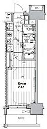 名古屋市営名城線 東別院駅 徒歩7分の賃貸マンション 11階1Kの間取り