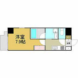 名古屋市営名港線 六番町駅 徒歩4分の賃貸マンション 7階1Kの間取り