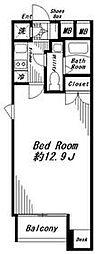 ビバリーホームズ代官山 303号室 2階1Kの間取り