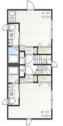iON MEGURO E 5階ワンルームの間取り
