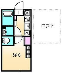 ヴィンティア鶴川 1階1Kの間取り