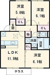 蟹江駅 8.0万円