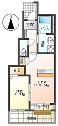 JR東海道本線 平塚駅 バス13分 南原土手下車 徒歩2分の賃貸アパート 1階1LDKの間取り