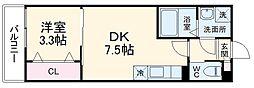 JR総武線 幕張本郷駅 徒歩11分の賃貸アパート 1階1DKの間取り