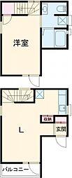 都営新宿線 篠崎駅 徒歩3分の賃貸テラスハウス 1階1LDKの間取り