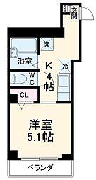 JR京浜東北・根岸線 西川口駅 徒歩1分の賃貸マンション 4階1Kの間取り