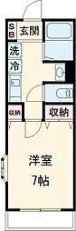 JR中央線 荻窪駅 徒歩9分の賃貸マンション 2階1Kの間取り