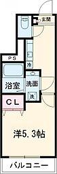 JR中央線 高円寺駅 徒歩9分の賃貸マンション 2階1Kの間取り