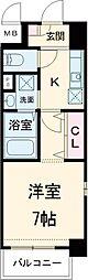 JR京浜東北・根岸線 南浦和駅 徒歩11分の賃貸マンション 5階1Kの間取り