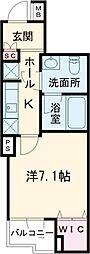 京王井の頭線 池ノ上駅 徒歩11分の賃貸マンション 1階1Kの間取り