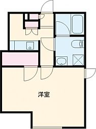 京急空港線 大鳥居駅 徒歩2分の賃貸マンション 1階1Kの間取り