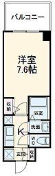 S-RESIDENCE本郷 4階1Kの間取り