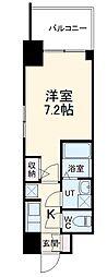 名古屋市営東山線 本郷駅 徒歩8分の賃貸マンション 7階1Kの間取り