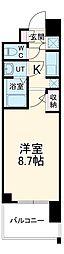 名古屋市営東山線 本郷駅 徒歩8分の賃貸マンション 8階1Kの間取り