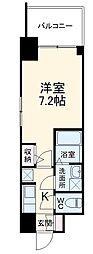 名古屋市営東山線 本郷駅 徒歩8分の賃貸マンション 9階1Kの間取り