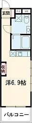 東武東上線 東武練馬駅 徒歩7分の賃貸マンション 5階ワンルームの間取り