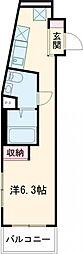 東武東上線 東武練馬駅 徒歩7分の賃貸マンション 4階ワンルームの間取り