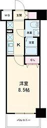 東京メトロ有楽町線 東池袋駅 徒歩4分の賃貸マンション 7階1Kの間取り