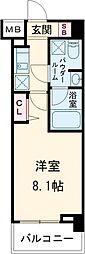 パティーナ東武練馬 3階1Kの間取り