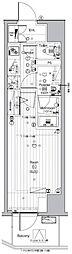 JR山手線 池袋駅 徒歩13分の賃貸マンション 6階1Kの間取り