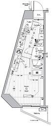 JR山手線 池袋駅 徒歩13分の賃貸マンション 13階ワンルームの間取り