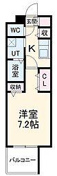 名古屋市営名城線 黒川駅 徒歩4分の賃貸マンション 11階1Kの間取り