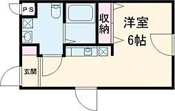 西武池袋線 練馬駅 徒歩7分の賃貸マンション 3階ワンルームの間取り