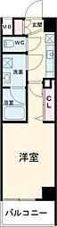 クレヴィスタ練馬桜台II 2階1Kの間取り