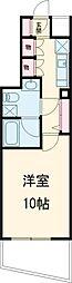 西武池袋線 練馬駅 徒歩12分の賃貸マンション 4階1Kの間取り