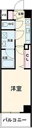 西武池袋線 練馬駅 徒歩12分の賃貸マンション 5階1Kの間取り