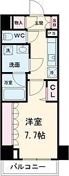 東京メトロ千代田線 北千住駅 徒歩12分の賃貸マンション 4階1Kの間取り