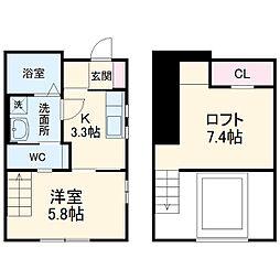 Mofz Villa Imagawa 1階1Kの間取り