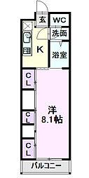 名鉄名古屋本線 栄生駅 徒歩5分の賃貸マンション 3階1Kの間取り