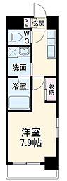 名古屋市営名港線 六番町駅 徒歩10分の賃貸マンション 3階1Kの間取り
