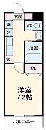 A・CITY港栄 5階1Kの間取り