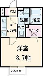 京成本線 公津の杜駅 徒歩13分の賃貸アパート 1階1Kの間取り