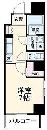 名古屋市営桜通線 瑞穂区役所駅 徒歩4分の賃貸マンション 9階ワンルームの間取り