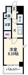 ガイドウェイバス志段味線 大曽根駅 徒歩17分の賃貸マンション 10階1Kの間取り
