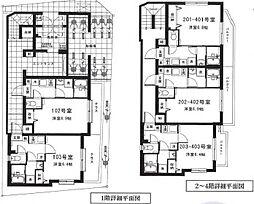 東京メトロ丸ノ内線 中野新橋駅 徒歩4分の賃貸マンション 1Kの間取り