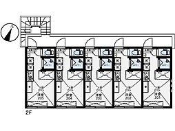 西武池袋線 富士見台駅 徒歩7分の賃貸アパート 2階ワンルームの間取り